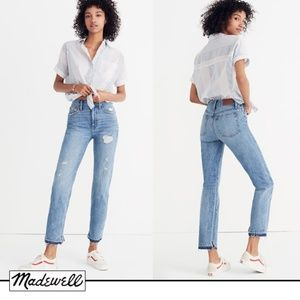 Madewell Classic Straight Jeans Destructed Edition
